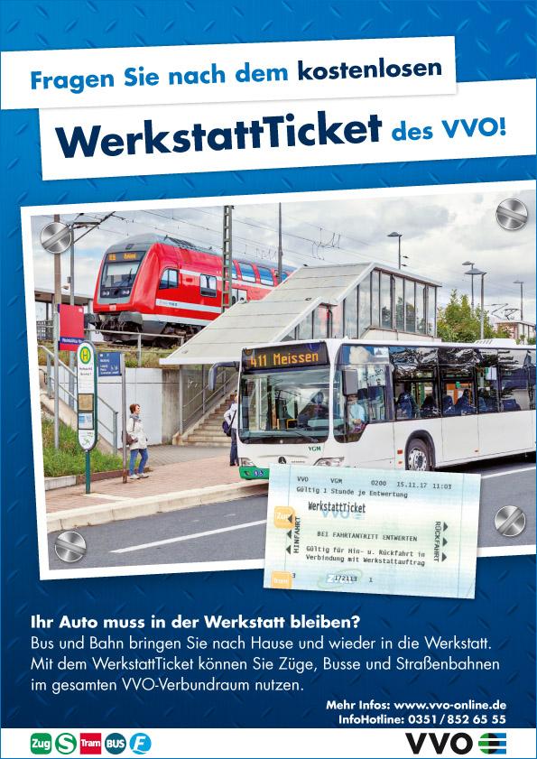 das kostenlose Werkstatt-Ticket VVO für Ihre Mobilität